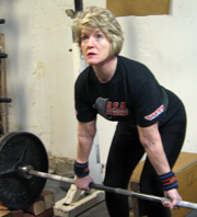Justice Ireland is also a powerlifter in her free time.
